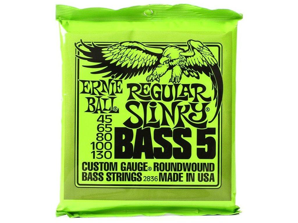 Struny na basovou kytaru Ernie Ball Regular Slinky Bass 5