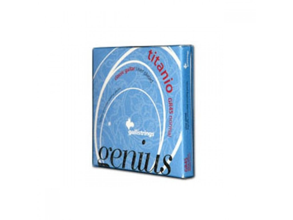 Nylonové struny Galli Genius Titanio GR 45