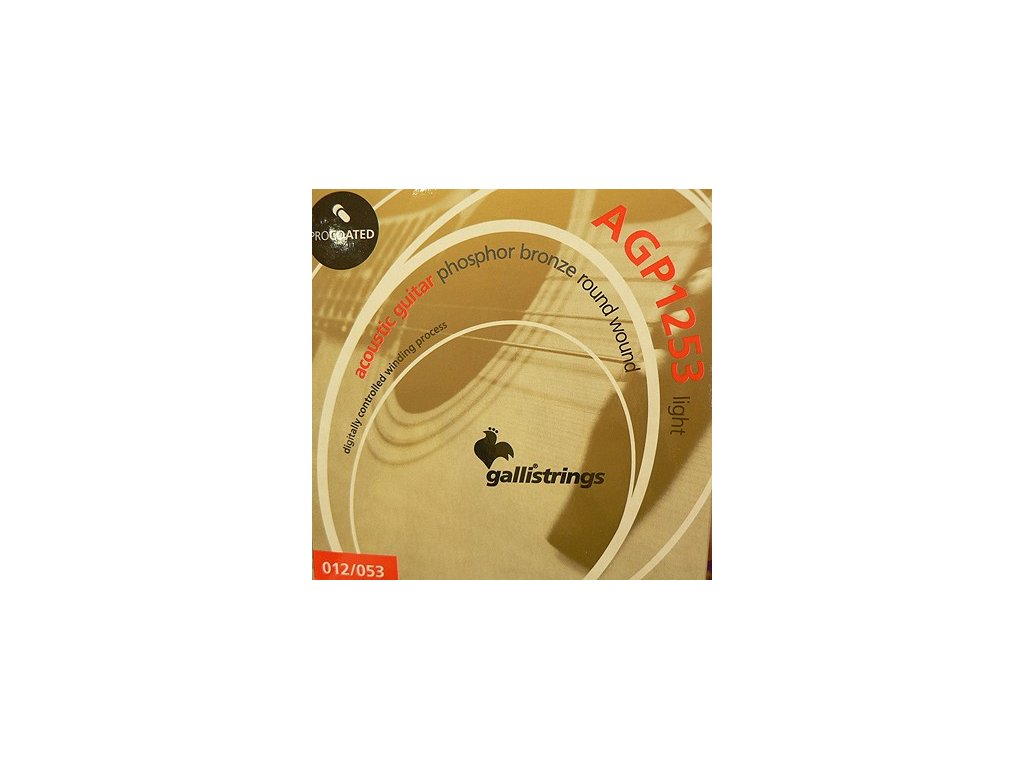 Struny na akustickou kytaru Galli PROcoated Acoustic AGP1253