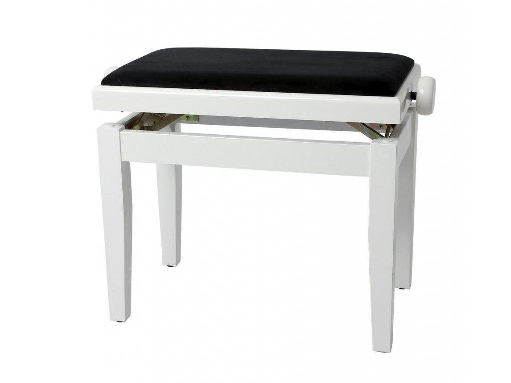 Gewa Deluxe - Bílý lesk - Klavírní stolička