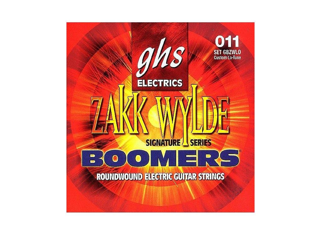 Struny na elektrickou kytaru GHS Boomers Zakk Wylde GBZWLO
