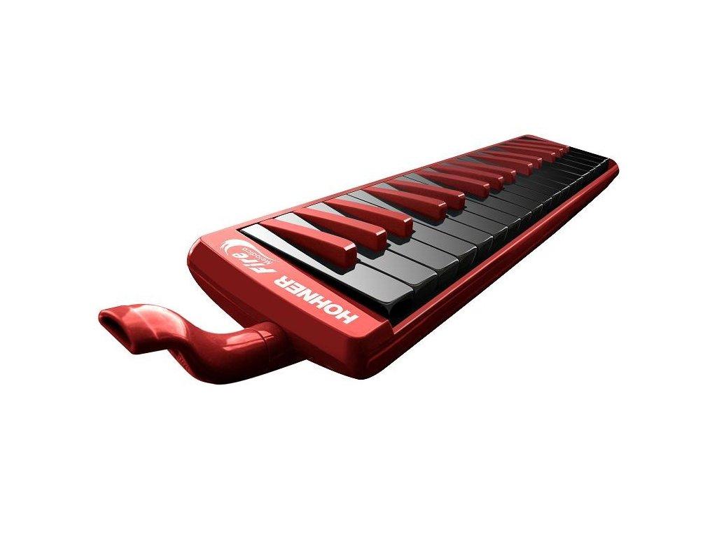 Foukací piánová harmonika Hohner Melodica Fire 32 červeno-černá
