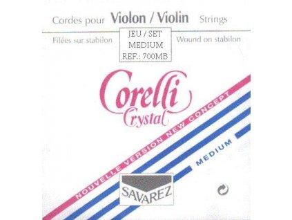 Struny na housle Corelli Crystal 700 MB