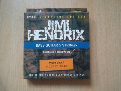 Struny na pětistrunnou basovou kytaru JIMI HENDRIX 1251 XL