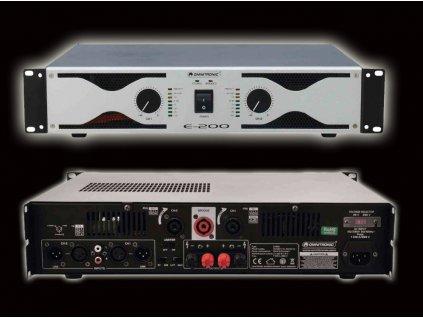 Dvoukanálový zesilovač Omnitronic E-200
