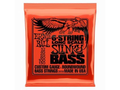Struny na baskytaru Ernie Ball 6-string Slinky Bass EB 2838