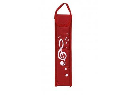 Obal pro sopránovou zobcovou flétnu Musicwear - červený