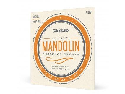 Struny pro oktávovou mandolínu D'ADDARIO EJ80 12