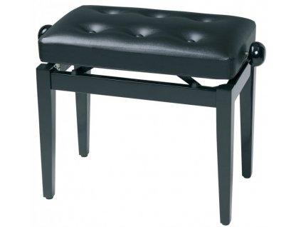 Gewa Deluxe - Černý vysoký lesk - Klavírní stolička