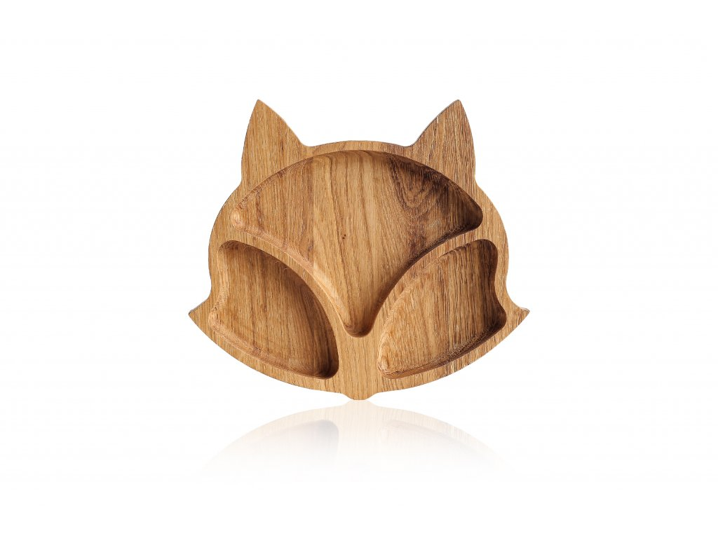 Dřevěné talířky zvířátka - LIŠKA