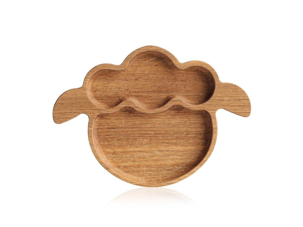 Dřevěné talířky zvířátka - OVEČKA