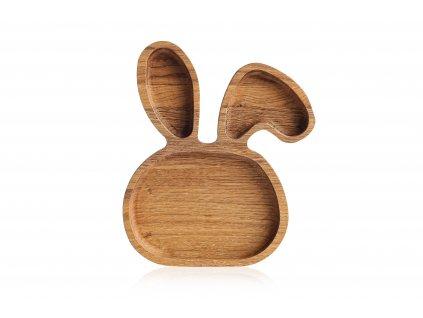 Dřevěné talířky zvířátka - ZAJÍČEK