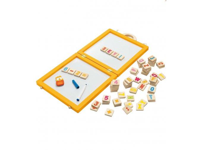 Přenosná magnetická tabule s písmeny