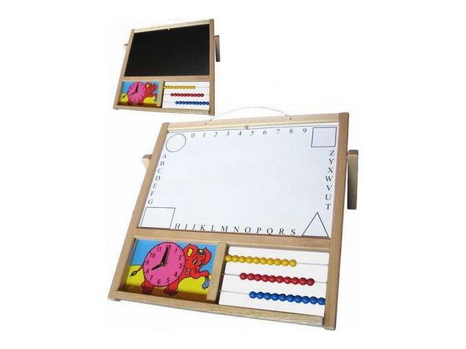 drevo tabule detska zavesnastolni na kridy i fixy s pocitadlem a hodinami naucna[1]