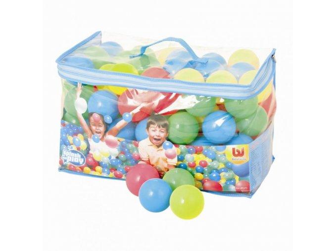 100 plastových barevných míčků v tašce - průměr 6,5cm