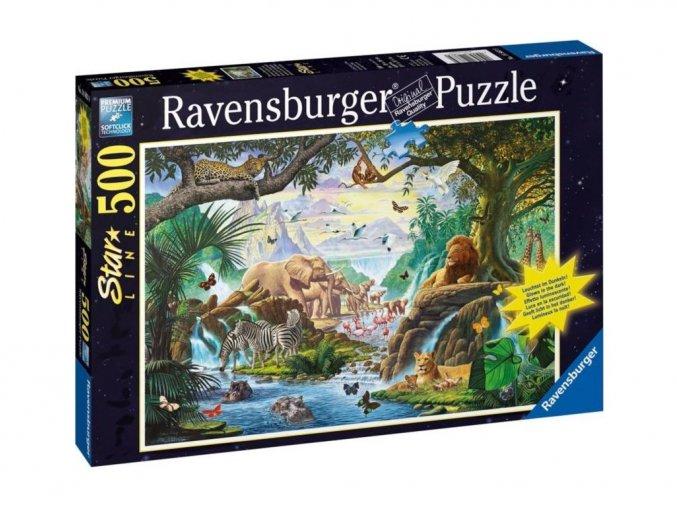 Puzzle Svítící puzzle Zvířata u vody 500 dílků