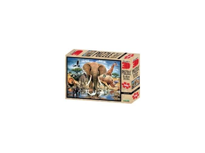3D puzzle Safari 500 dílků