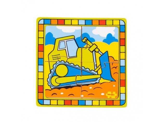 Vkládací puzzle - Buldozer