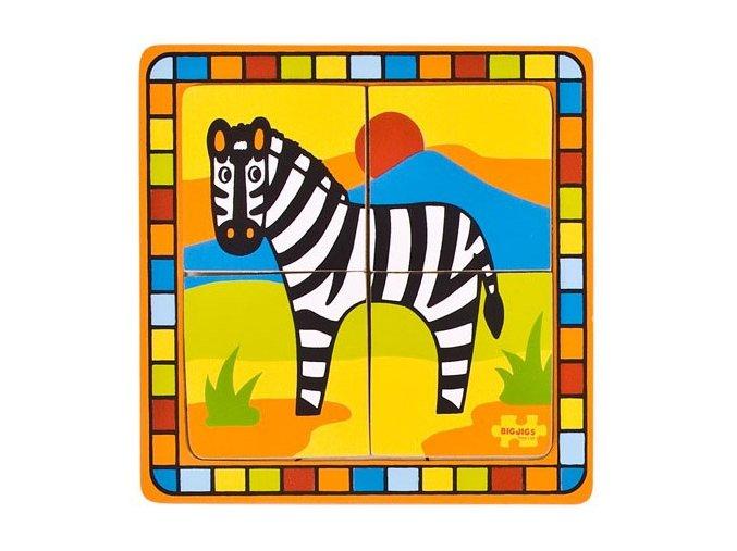 Vkládací puzzle - Zebra