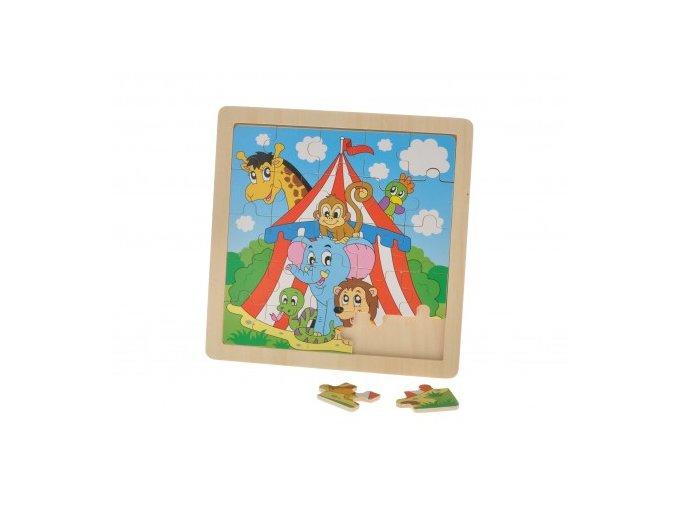 drevene puzzle zviratka v cirkuse 25 dilku[1]