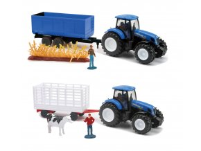 Traktor New Holland 1:32 s vlekem