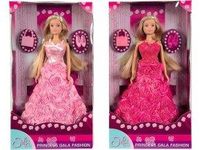 SIMBA Panenka Steffi Gala Princess 29cm set růžové šaty s doplňky 2 druhy barva: červená