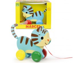 The Vilac Marcel The Cat Pull Along Toy[1]
