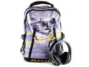 Studentský batoh CU.BE + sluchátka