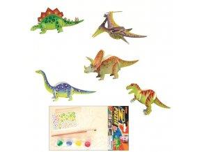 Dřevěné puzzle s motivem dinosaurů