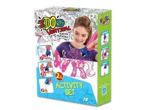 ido3d vertical 2 pen activity set butterfly and fairies 1