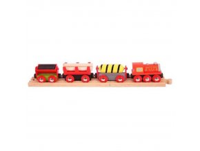 1076246079 bigjigs rail vlackodraha nakladni vlak cerveny 3 koleje[1]