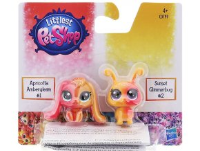 Littlest Pet Shop Duhový set 2 ks zvířátek Indiglow Apricotta Ambergleam a Sunset Glimmerbug