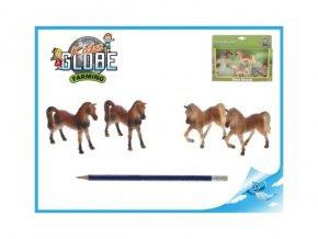 Kůň 8cm 1:32 4ks v krabičce