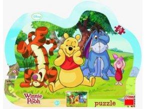 Puzzle deskové 25 dílků Schovávaná s medvídkem Pú