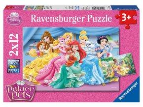 Puzzle Princezna a domácí zvířata 2x12