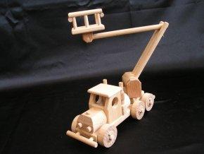 26 455 samochod drewniany dzwig