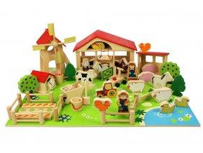 Velká dřevěná farma
