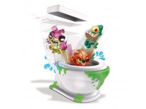 Spin Master Flush Force 2 figurky v záchodě barva: modrá