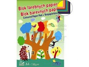 Skicák A4 barevné papíry 20 listů