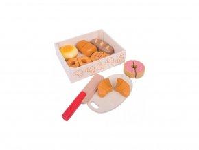 15006 bigjigs toys drevene potraviny krajeni peciva v krabicce