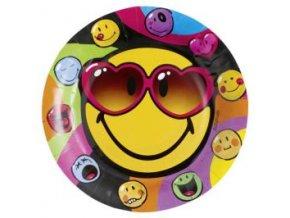Papírové talířky Smiley průměr 23cm 8 ks