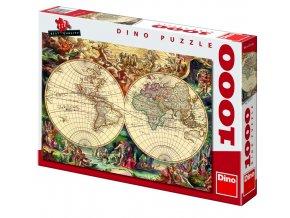 Puzzle historická mapa 1000d.