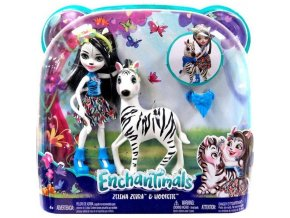 Enchantimals panenka Zelena a zebra