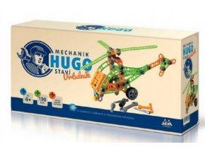 mechanik hugo stavi vrtulnik seva stavebnice s naradim 130ks plast v krabici 31x16x7cm un36174