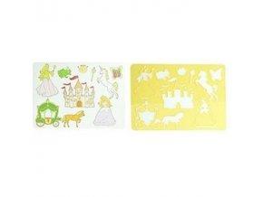 Kreslící šablony princezny plast