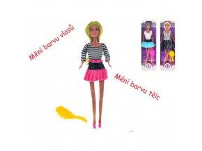Kloubová panenka měnící barvu těla a vlasů