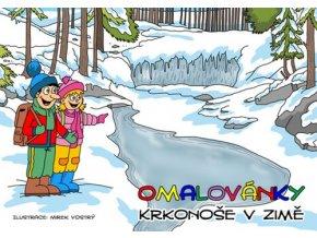 Omalovánky Krkonoše v zimě