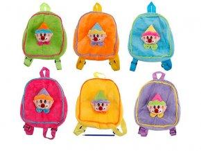Plyšový batoh s klaunem - žlutý