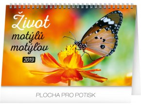 stolni kalendar zivot motylu motylov cz sk 2019 23 1 x 14 5 cm 1 2