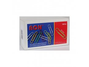 dopisni sponky 50mm 100ks barevne plastove